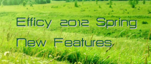Efficy Spring 2012 New Features