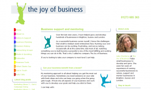 The Joy of Business Website