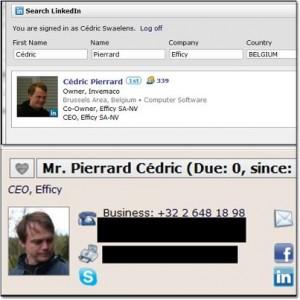 LinkedIn Efficy Integration