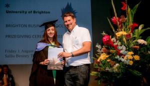 University of BrightonBusiness School prize giving ceremony 01/08/14